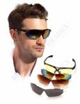 Очки спортивные солнцезащитные с 5 сменными линзами в чехле, черные (Sport Sunglasses, black)